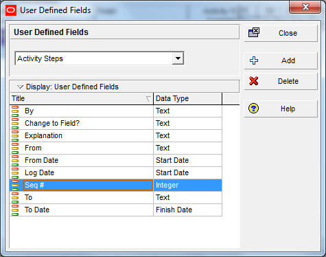 create udfs activity change log p6