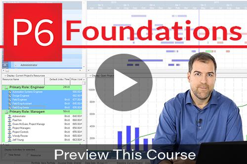 primavera p6 foundations course preview